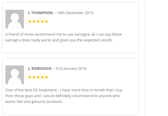 Customer Reviews for Kamagra Gold